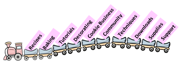 We Cookiers Express newsletter. Hop on the cookie train! Sign up on the sugar cookie homepage at WeCookiers.com