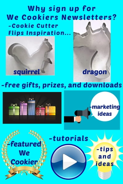 Why sign up to WeCookiers.com by-weekly newsletter? Stay at the cutting edge of your profession, learn tips, tutorials, and much more! https://www.wecookiers.com/free-download-and-newsletter.html